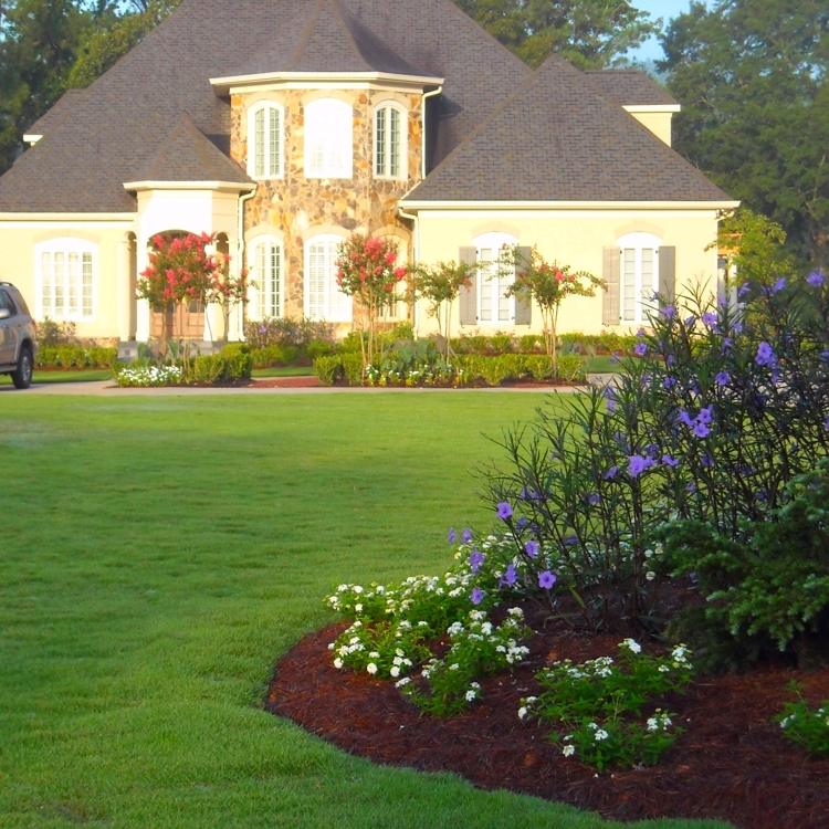 Offer landscaping - design and installation services