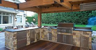 Offer outdoor kitchen services