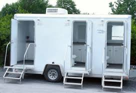 Offer mobile rest rooms services