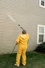 Offer pressure washing services